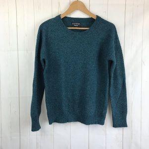 Banana Republic Bu Filpucci Green Silver Sweater M